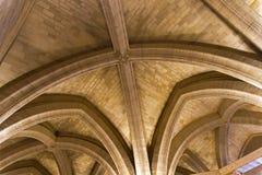 Taket i den gamla kungliga slotten av Conciergerie paris royaltyfri fotografi