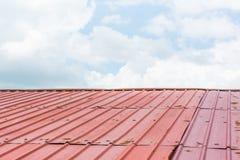 Taket och himlen Arkivfoto