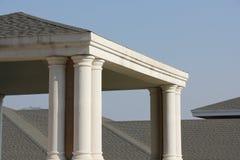 Taket och paviljongen Arkivbild