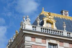 Taket specificerar slotten Versailles nära Paris, Frankrike Royaltyfri Bild