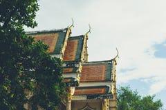 Taket Wat Thai Royaltyfria Foton
