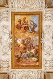 Takfreskomålning i den Venaria Reale slotten, Turin, Italien arkivfoto