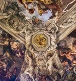 Takfreskomålning i Palazzo Barberini, Rome, Italien Fotografering för Bildbyråer
