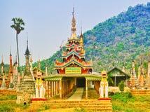 Takhaung Mwetaw Paya in Sankar. Myanmar. Panorama Royalty Free Stock Photos