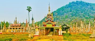 Takhaung Mwetaw Paya in Sankar. Myanmar. Panorama Stock Images