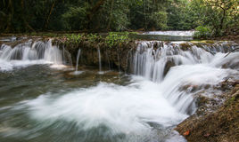 Takian Thong Waterfall, Kanchanaburi Province, Thailand. Stock Photos