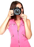 Taking A Picture Royalty Free Stock Photography