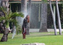 Taking advantage at Lumpini Park Royalty Free Stock Photo