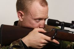 Taking Aim Royalty Free Stock Photos