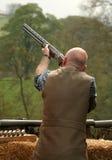 Taking Aim. Shooter taking aim at his target Stock Images