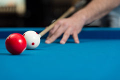 Taking Aim To Shoot The One Ball Stock Images