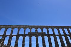 Taking Of The Aqueduct In Its Frontal Part In Segovia. Architecture, Travel, History. June 18, 2018. Segovia Castilla Leon Spain Stock Photography