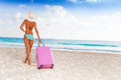 Taking baggage to vacation Royalty Free Stock Photos