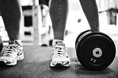 Taking barbell Stock Image