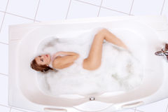 Taking bath Royalty Free Stock Photography