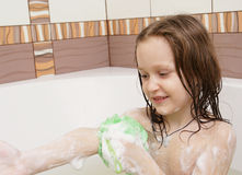 Taking a bath royalty free stock photography