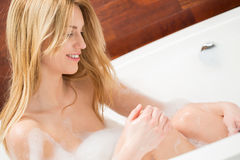 Taking a bath Royalty Free Stock Images