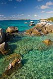 Taking in the Baths of Virgin Gorda Royalty Free Stock Image