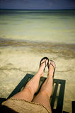Taking a Beach Break Stock Image