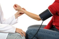 Taking the blood pressure Stock Image