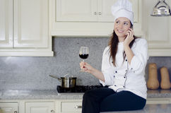 Taking a break from the kitchen Royalty Free Stock Images