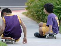 Taking a Break from skateboarding Stock Photography