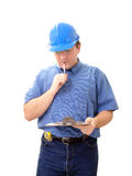 Taking building notes Royalty Free Stock Photos