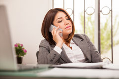 Taking a business call Royalty Free Stock Photos
