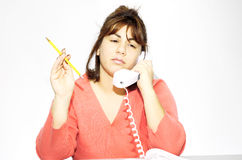 Taking a Call Royalty Free Stock Photo