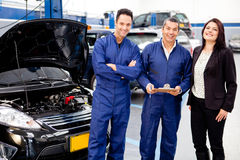 Taking car to the mechanic Stock Photos