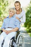 Taking care of disabled Stock Photos
