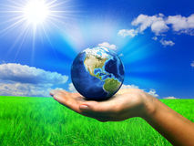Taking care of the earth Stock Photography