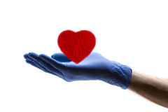 Taking care of the heart Stock Photography