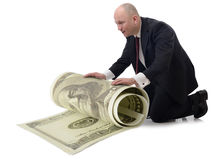 Taking care of money Royalty Free Stock Photo
