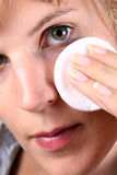 Taking Care Of My Skin Stock Images