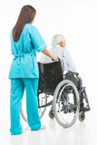 Taking care of seniors. Stock Images