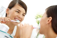 Taking care of teeth Royalty Free Stock Photography