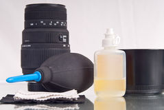 Taking Care of Your Lenses stock photography
