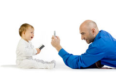Taking a cell phone photo Royalty Free Stock Image