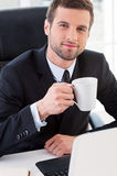 Taking a coffee break. Royalty Free Stock Image