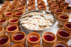 Taking communion Royalty Free Stock Photos