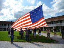 Taking Down the Flag royalty free stock photos