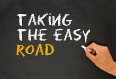 Taking the easy road Royalty Free Stock Image