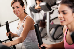 Taking an elliptical training class Royalty Free Stock Images