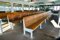 Inside a Ferry from a Ferry Ride to Whidbey Island from Mukilteo On A Beautiful Sunny Winter Morning Stock Image
