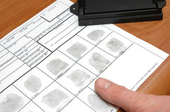 Taking fingerprints Royalty Free Stock Image