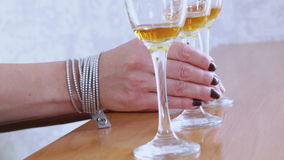 Taking glasses of wine Royalty Free Stock Photography