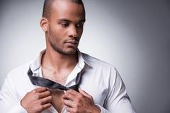 Taking his necktie away. Stock Image