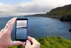 Taking a landscape photo Stock Photo