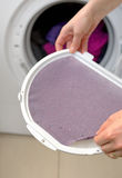 Taking the lent of Dryer Machine Royalty Free Stock Photography